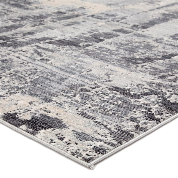 Grey, Ivory, Charcoal (VOR01) Abstract Area Rug