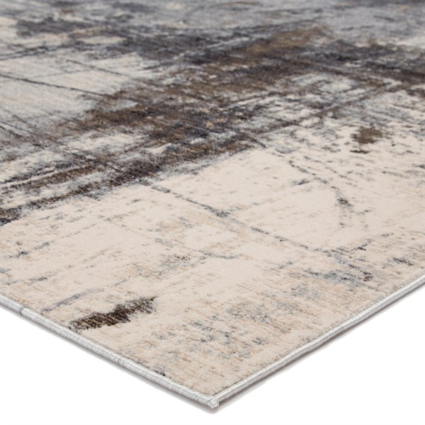 Beige, Grey, Brown (VOR02) Abstract Area Rug