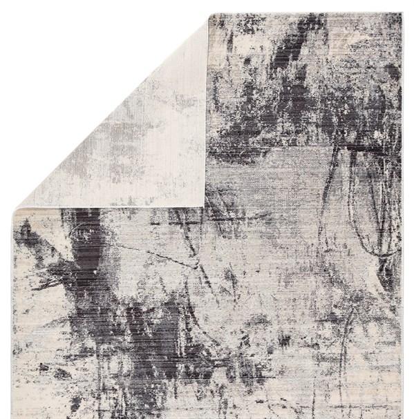 Beige, Light Grey, Charcoal (VOR03) Abstract Area Rug