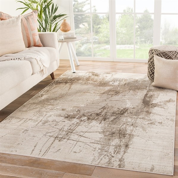 Beige, Brown, Taupe (VOR04) Abstract Area Rug