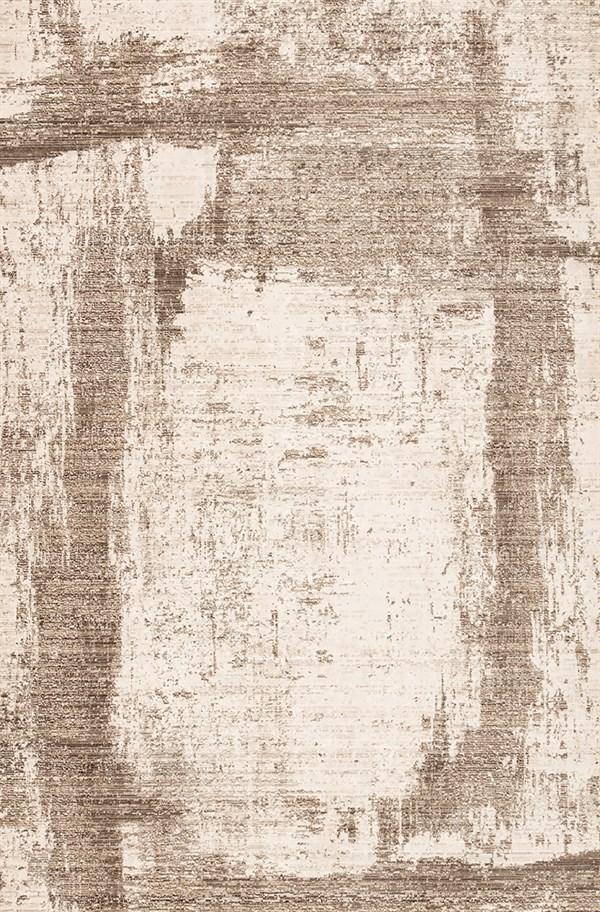 Beige, Brown (VOR07) Abstract Area Rug