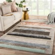 Product Image of Grey, Pink (SYN03) Contemporary / Modern Area Rug