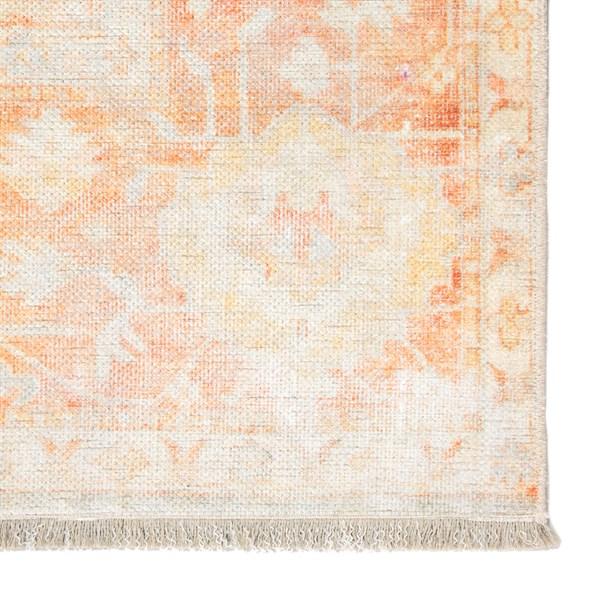 Orange, Light Grey (BOH02) Vintage / Overdyed Area Rug