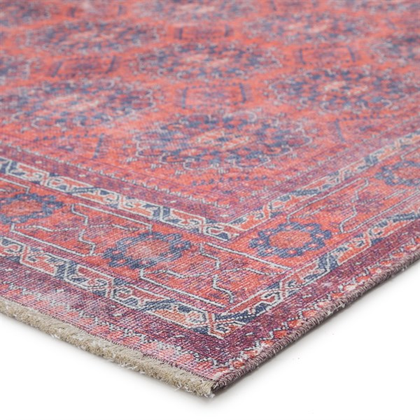 Blue, Red (BOH05) Moroccan Area Rug