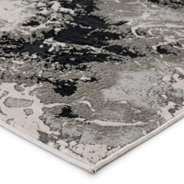 Black, Grey (CTY-01) Contemporary / Modern Area Rug