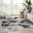 Product Image of Black, Grey (CTY-01) Contemporary / Modern Area Rug