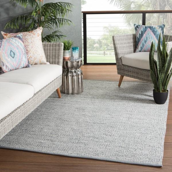 Grey, Ivory (PSD-02) Outdoor / Indoor Area Rug