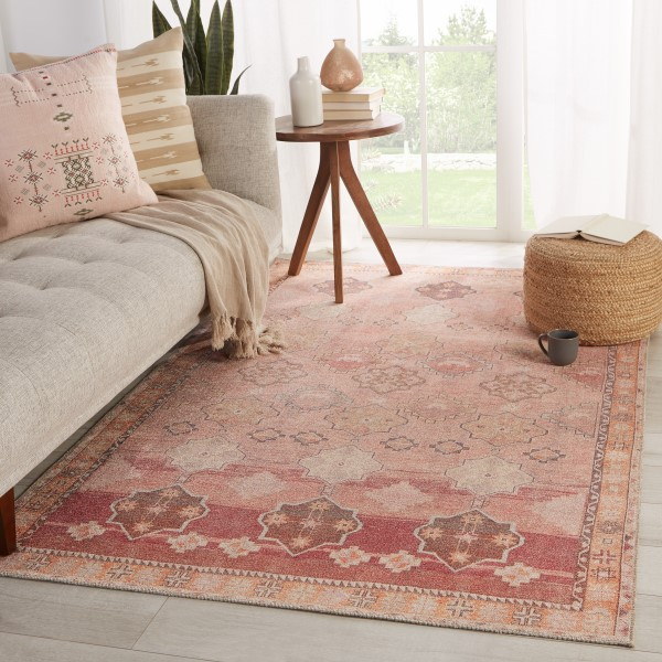 Pink, Orange (KAR-02) Bohemian Area Rug