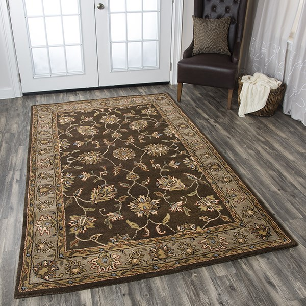 Brown, Beige Traditional / Oriental Area Rug