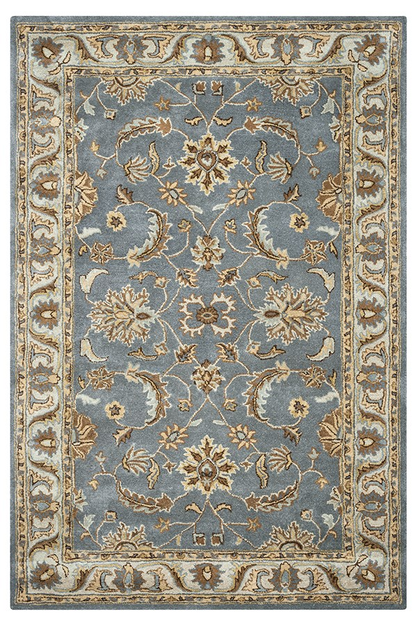 Light Gray Traditional / Oriental Area Rug