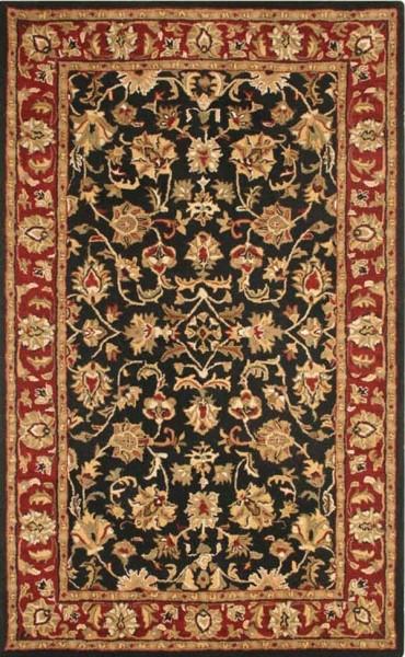 Black, Rust Traditional / Oriental Area Rug