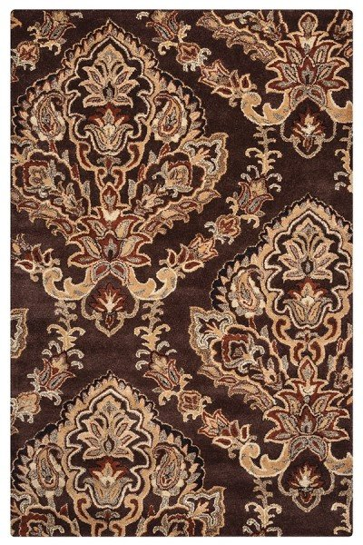 Chocolate Traditional / Oriental Area Rug