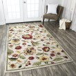 Product Image of Ivory, Coral, Sage, Tan Floral / Botanical Area Rug