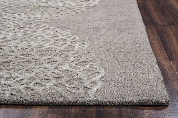 Light Brown, Ivory Contemporary / Modern Area Rug