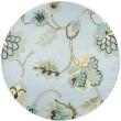 Product Image of Light Blue, Beige, Dark Tan  Floral / Botanical Area Rug