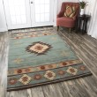 Product Image of Green, Gold, Rust, Beige Southwestern / Lodge Area Rug