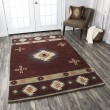 Product Image of Red, Tan, Gray, Beige Southwestern / Lodge Area Rug