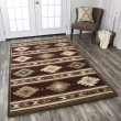 Product Image of Red, Beige, Gray, Brown, Sage Southwestern / Lodge Area Rug