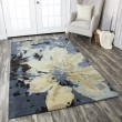 Product Image of Navy, Tan, Ivory Contemporary / Modern Area Rug