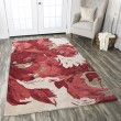 Product Image of Beige, Coral, Dark Red Contemporary / Modern Area Rug