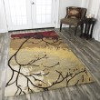 Product Image of Brown, Gold, Red Contemporary / Modern Area Rug