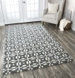 Product Image of Gray, Dark Gray Transitional Area Rug