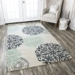 Product Image of Beige, Aqua, Charcoal, Slate Transitional Area Rug