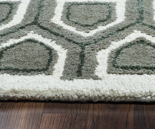 Ivory, Gray Transitional Area Rug