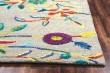 Product Image of Dark Grey, Magenta, Teal, Yellow Floral / Botanical Area Rug