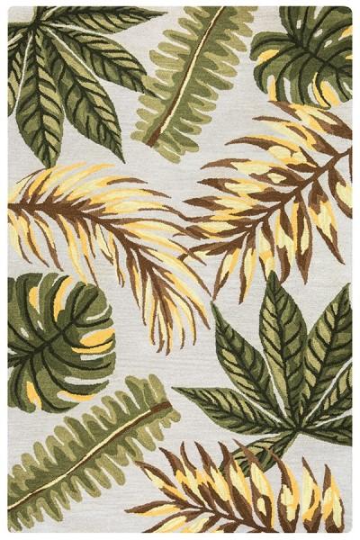 Sage, Ivory Floral / Botanical Area Rug