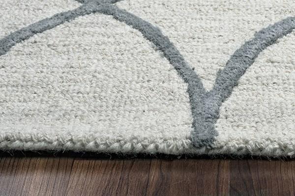 Khaki, Gray Contemporary / Modern Area Rug