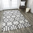 Product Image of Grey, Off White Transitional Area Rug