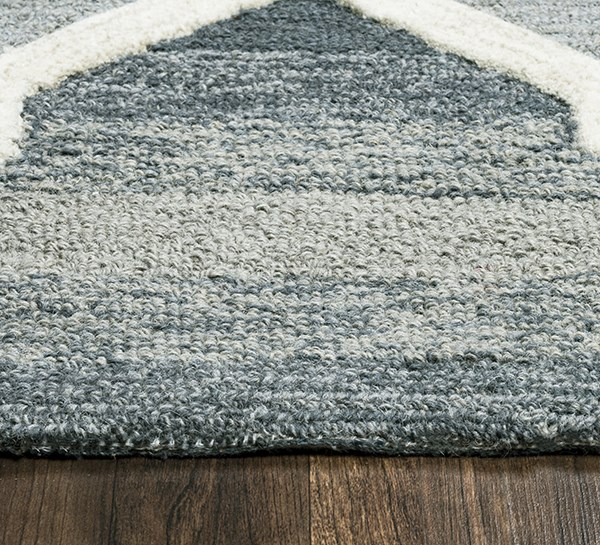 Blue, Off White Transitional Area Rug