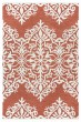 Product Image of Red, Ivory Damask Area Rug
