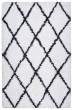 Product Image of White, Black Shag Area Rug