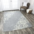 Product Image of Blue Grey, Off White Transitional Area Rug