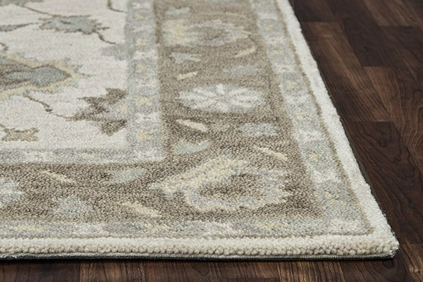 Natural, Brown Traditional / Oriental Area Rug