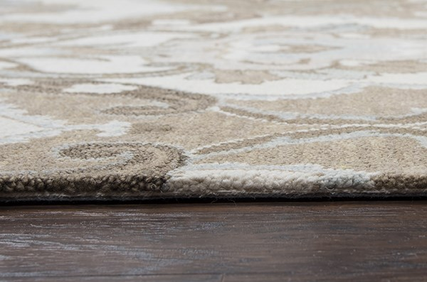 Mocha, Ivory, Brown Transitional Area Rug