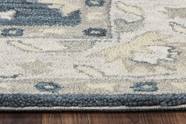 Blue, Natural Traditional / Oriental Area Rug