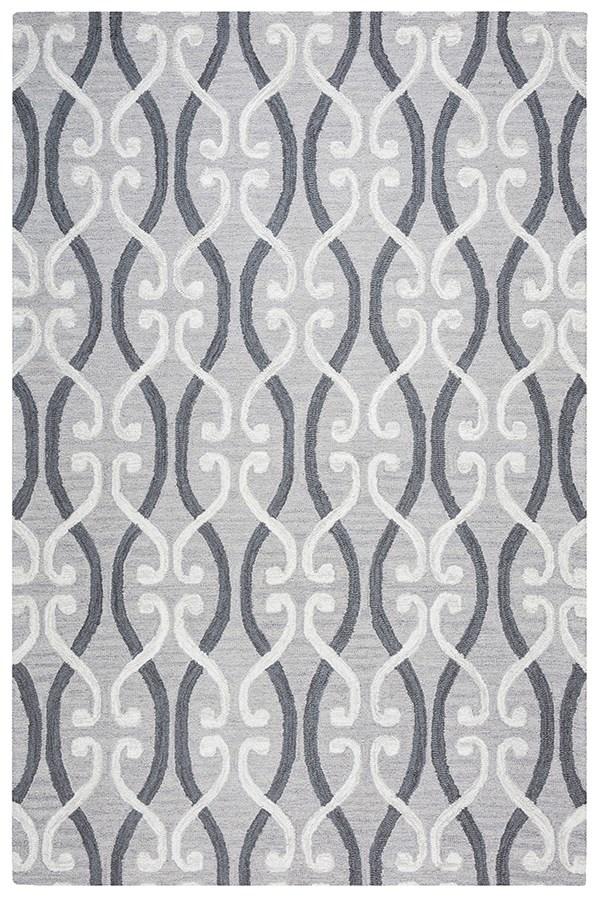 Light Grey, Dark Grey, Ivory Moroccan Area Rug