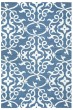 Product Image of Blue, Off White Damask Area Rug