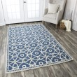 Product Image of Blue, Off White Transitional Area Rug