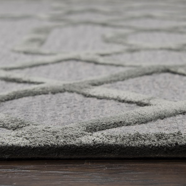 Gray, Silver Transitional Area Rug