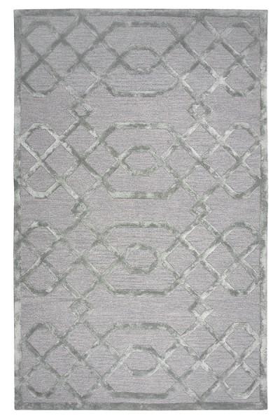 Gray, Silver Contemporary / Modern Area Rug