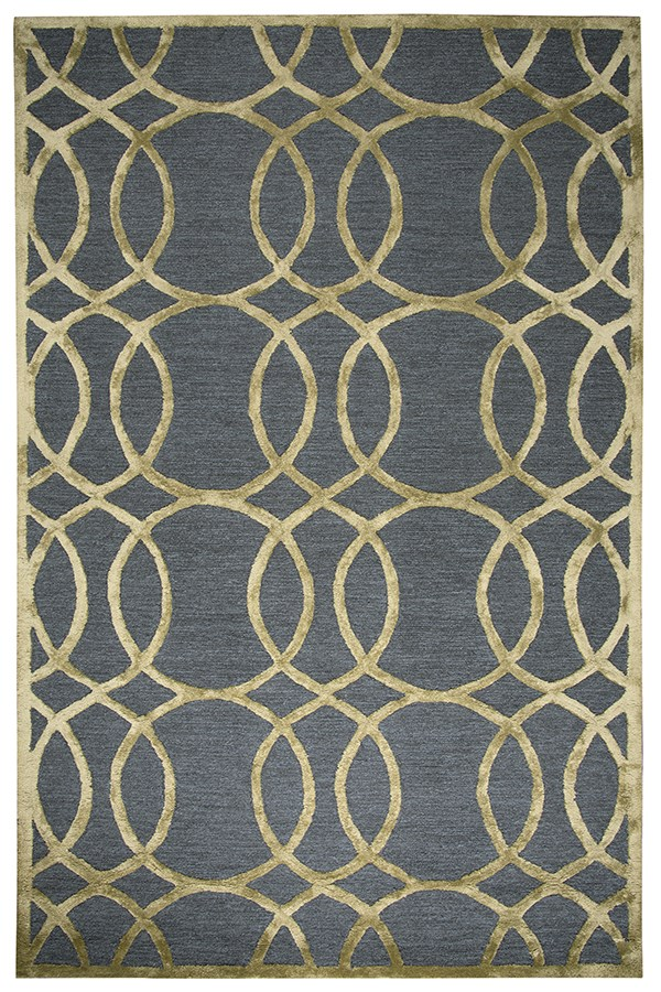 Gray, Gold Transitional Area Rug