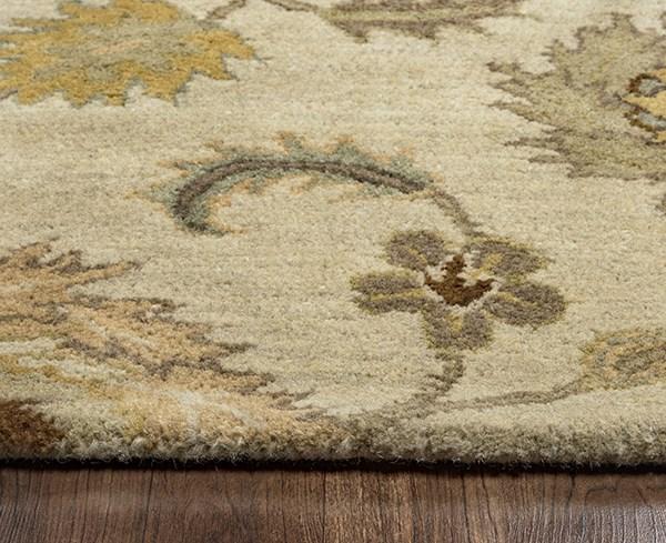 Tan, Gold, Sage, Brown Traditional / Oriental Area Rug