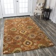 Product Image of Rust, Khaki, Brown, Burgundy Traditional / Oriental Area Rug
