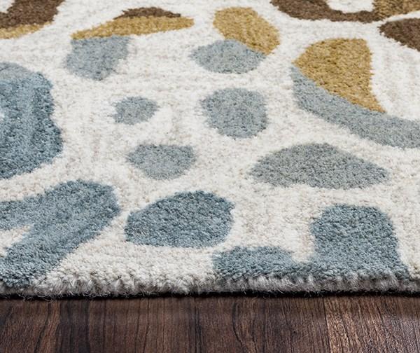 Brown, Blue, Tan, Khaki Animals / Animal Skins Area Rug