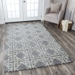 Product Image of Blue, Light Grey Moroccan Area Rug