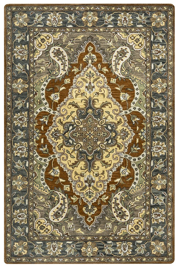 Blue, Tan, Brown, Sage Traditional / Oriental Area Rug